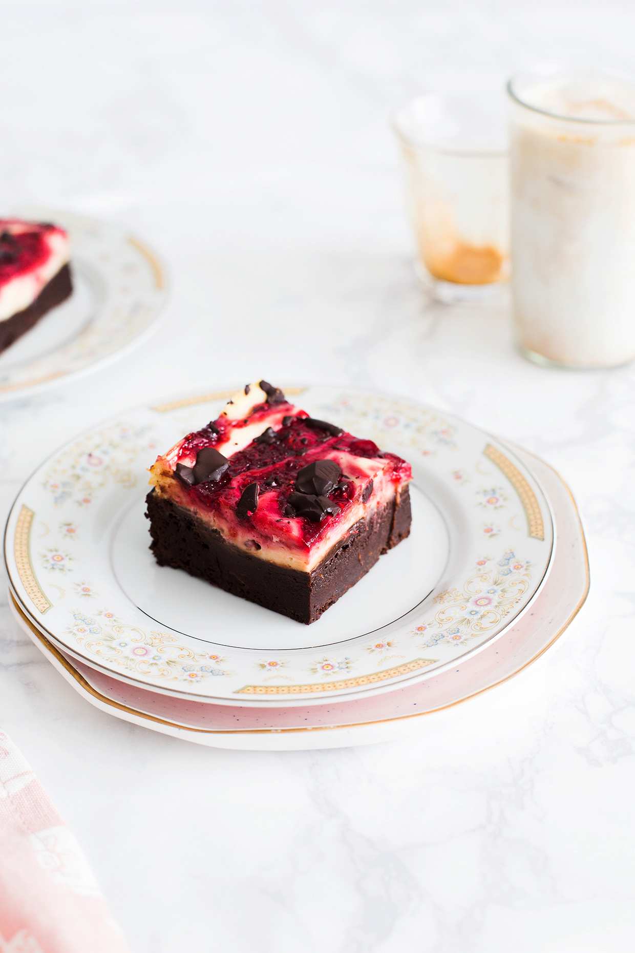 Fudgy Raspberry Cheesecake Brownies