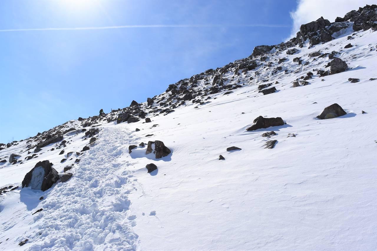 冬の那須岳登山