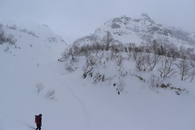 焼岳雪山登山