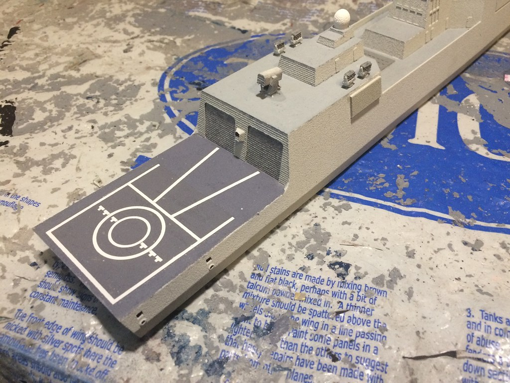 Adding the flight deck decals