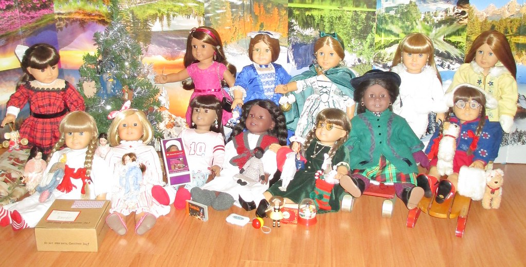 video dolly tales dolls from christmas past american girls by a thousand splendid dolls - Christmas Decorations For American Girl Dolls