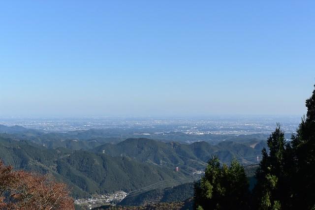 御岳山 ケーブルカー山頂駅からの展望