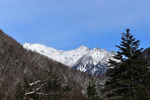雪の穂高連峰