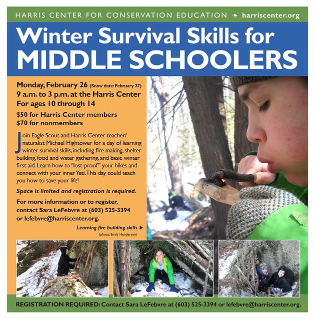 flyer for Winter Survival Skills program