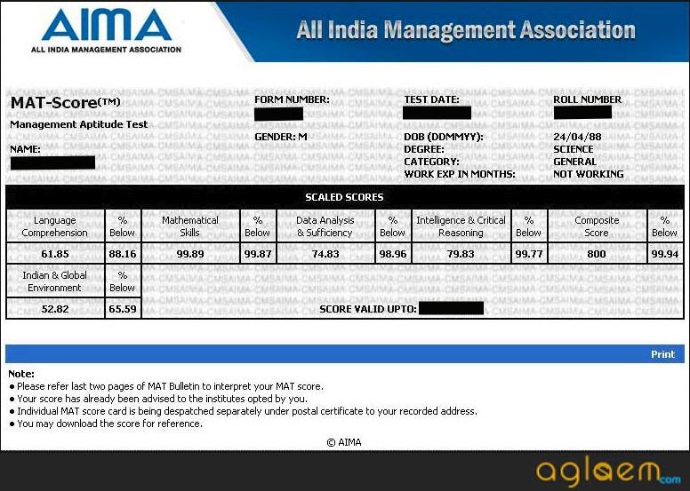 MAT 2019 Result | Check MAT 2019 Score Card Details  %Post Title, %Post Category, AglaSem