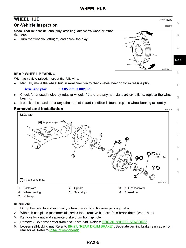 nissan note 2006 rear axle service manual rax 5 john c bullas bsc rh flickr com Auto Repair Manual HP Owner Manuals