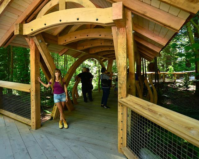 A la entrada de Capilano Bridge en Canadá