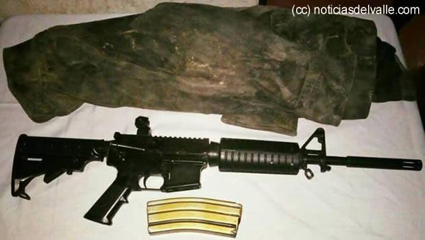 Policía encuentra arma de grueso calibre en La Democracia Huehuetenango