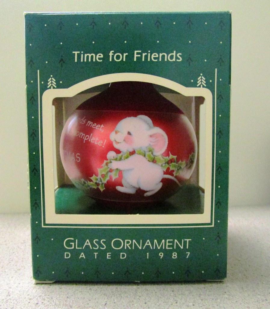 1987 Hallmark Keepsake Glass Christmas Ornament, Xmas Mice… | Flickr