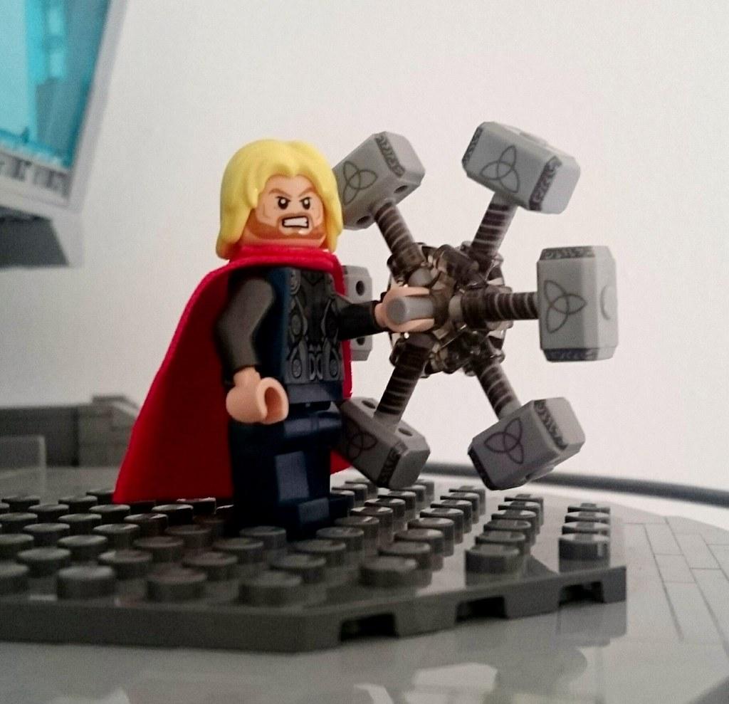 lego custom thor hammer michael flickr
