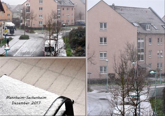 Wetter Mannheim-Seckenheim, 10. Dezember 2017: Schnee --- Fotos: Brigitte Stolle