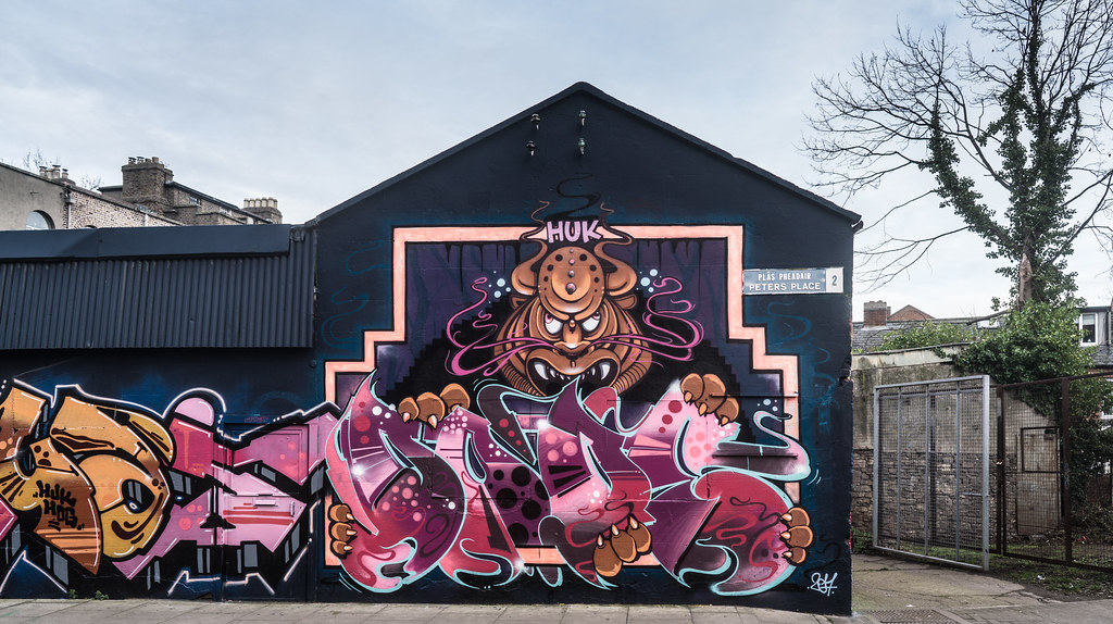 STREET ART AT PETERS PLACE IN DUBLIN 004
