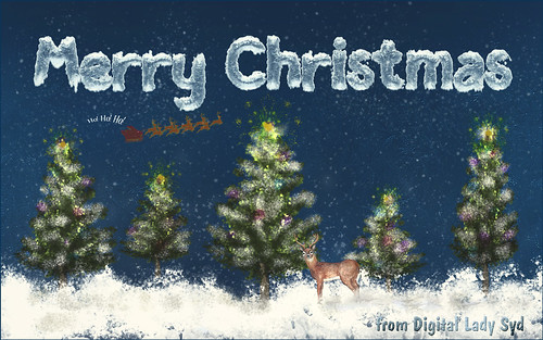 Digitally Painted Christmas Message