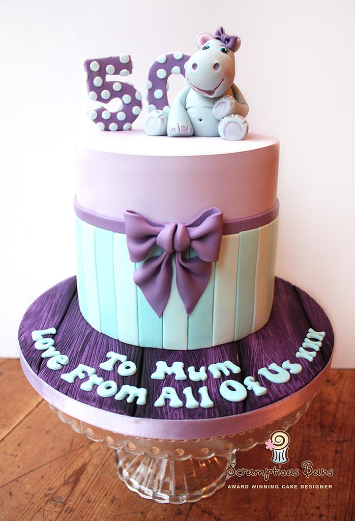 50th Hippo Birthday Cake Samantha Douglass Flickr