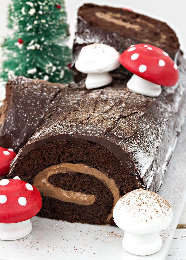 Receta tronco Navidad