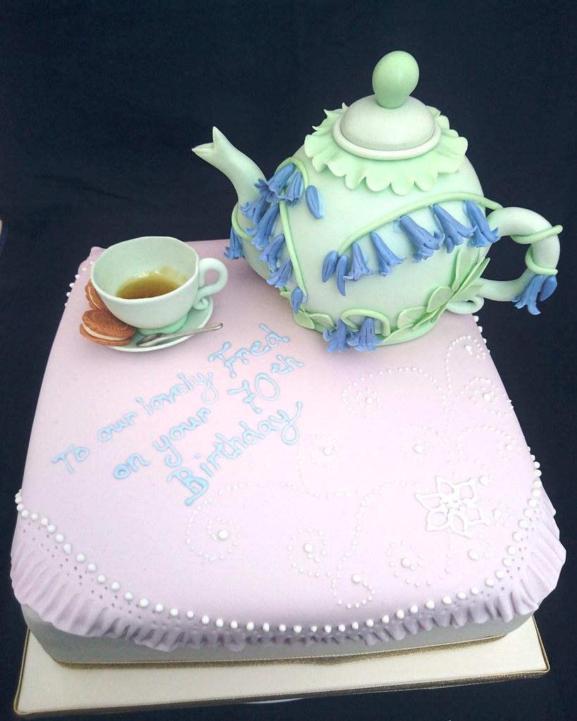 Bluebell Teapot Birthday Cake Geraldine Horton Flickr