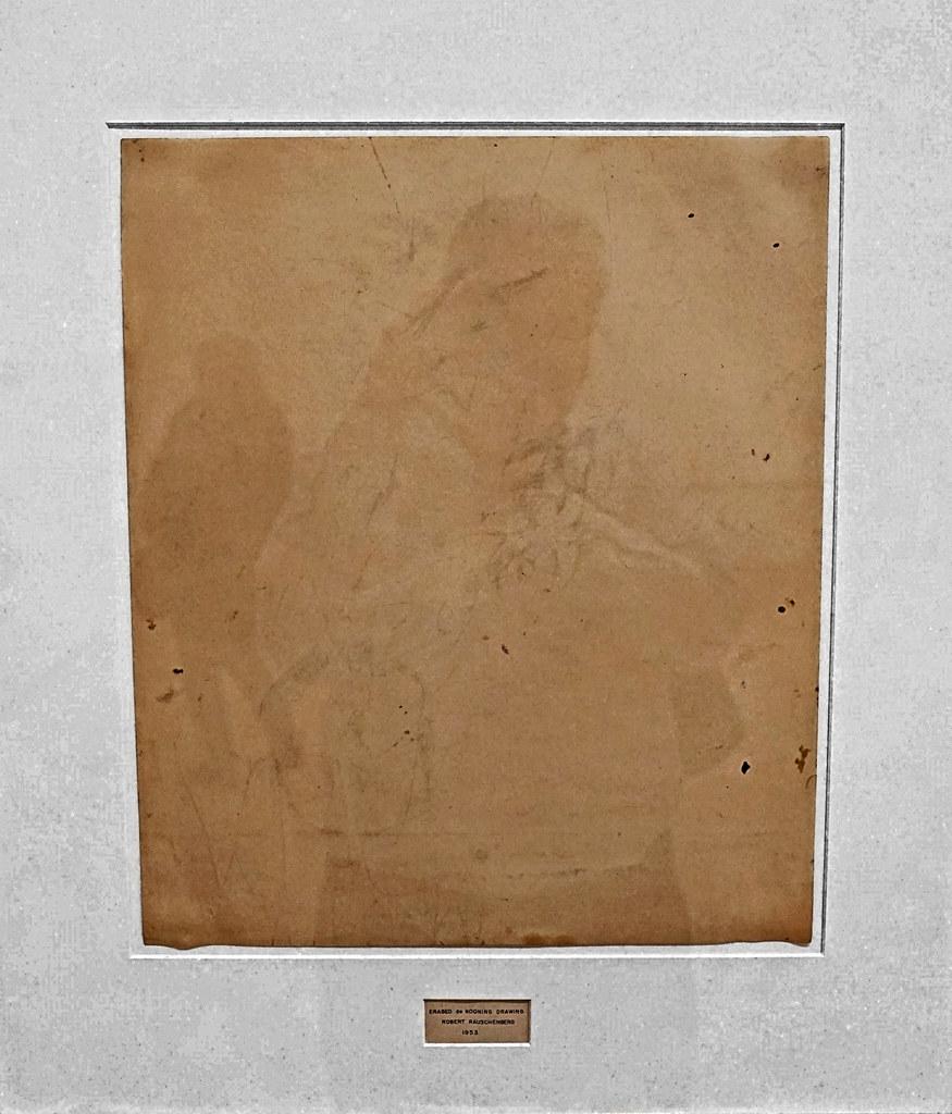 looking   robert rauschenberg  erased de kooning drawing   u2026