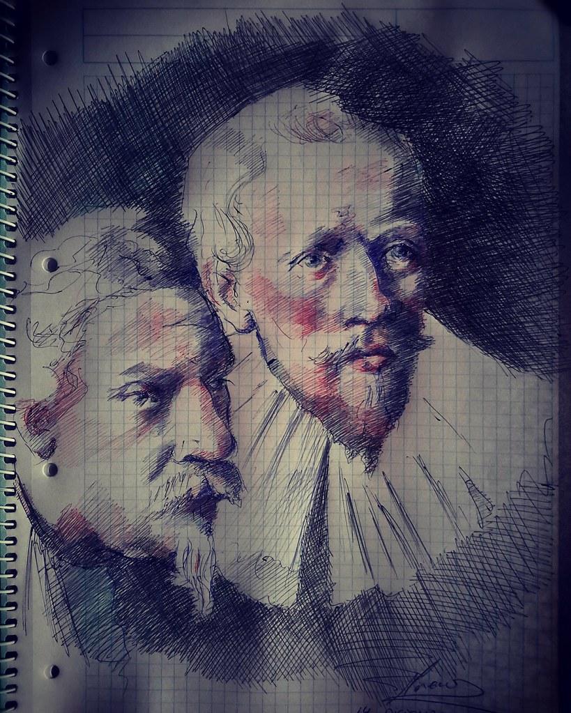 La clase de anatomia del doctor Tulp.Rembrand Boligrafo | Flickr