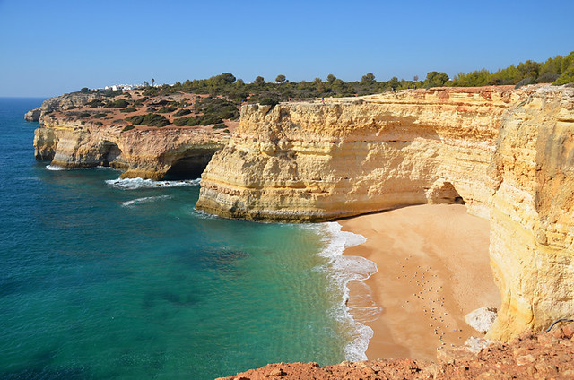 Algarve walking, sandy cove, Seven Hanging Valleys route, Portugal