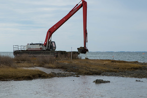 Photo of dredging work on Smith Island