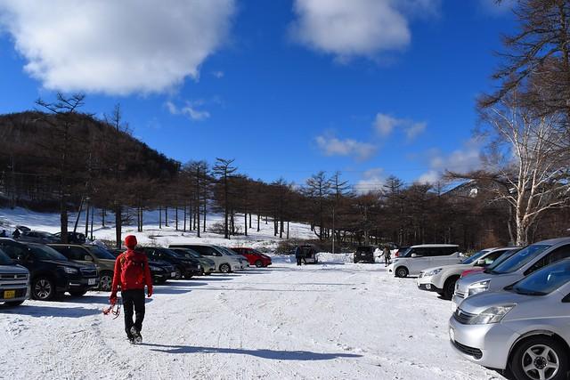黒斑山登山口駐車場