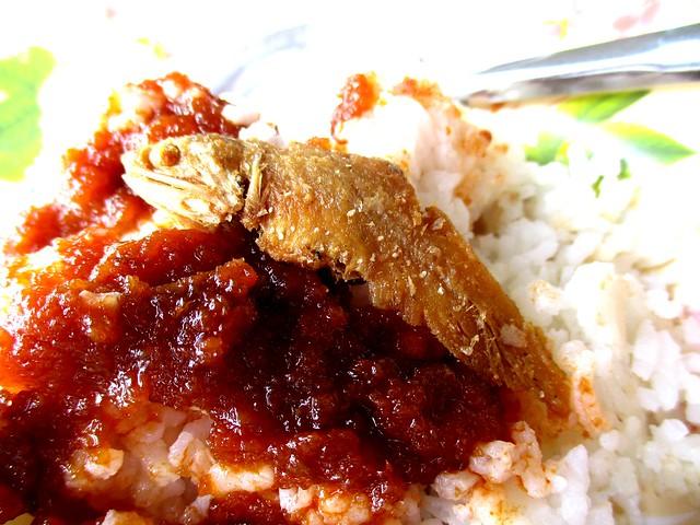 Sunny Cafe nasi lemak, sambal & salted fish
