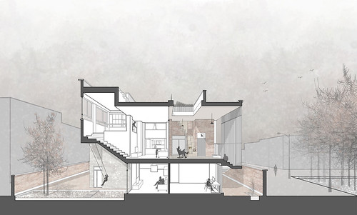 Piramun Architectural Office - Ivan-Khaneh - Drawings 03 Section 剖面圖 | by 準建築人手札網站 Forgemind ArchiMedia