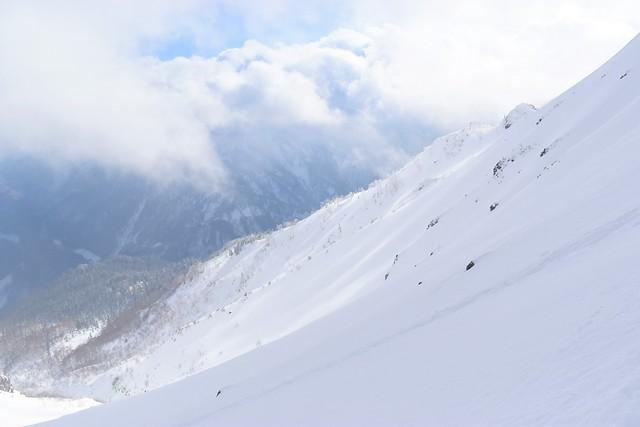 焼岳 美しい雪の稜線