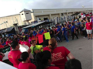 Workers at STAR factory in Honduras protest Gildan cutting jobs despite growing profits.