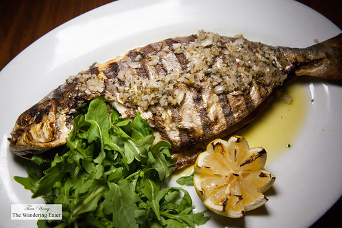 Grilled Florida pompano with garlic and chili pepper | by thewanderingeater