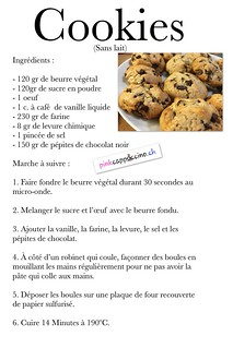 Cookies sans lait | by pinkcappuccino