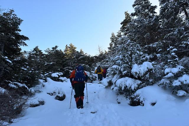 黒斑山 雪山登山