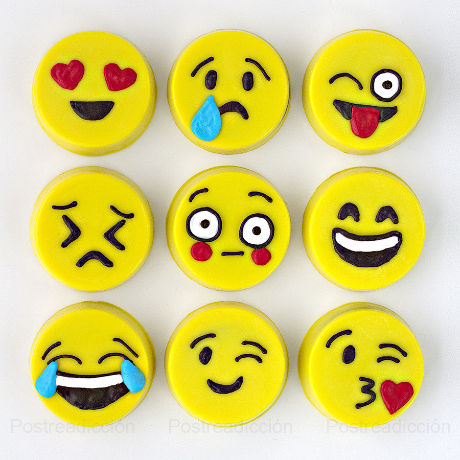 Emojis con chocolate