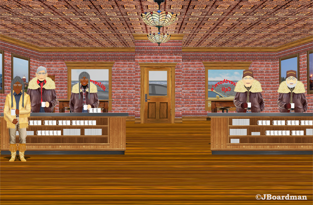 Boomer & Joey at Silverthorn's Café ©JBoardman