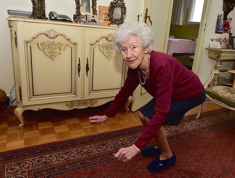 103 jarige doet dagelijks aan ochtendgymnastiek