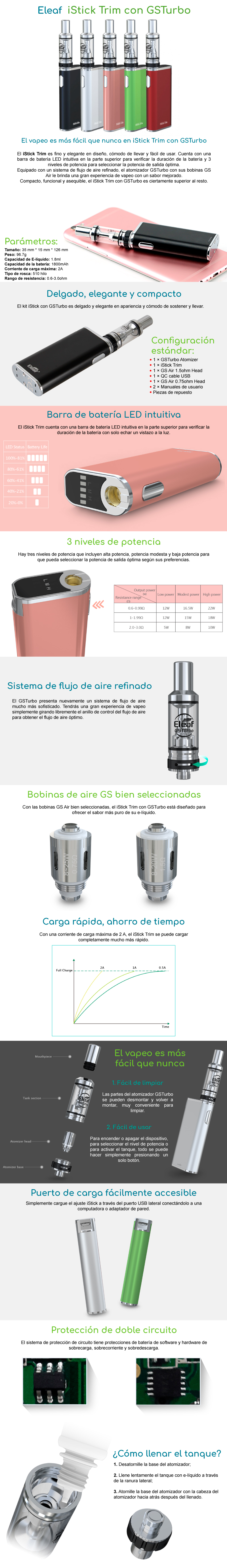 Kit Eleaf Trim con Atomizador GSTurbo