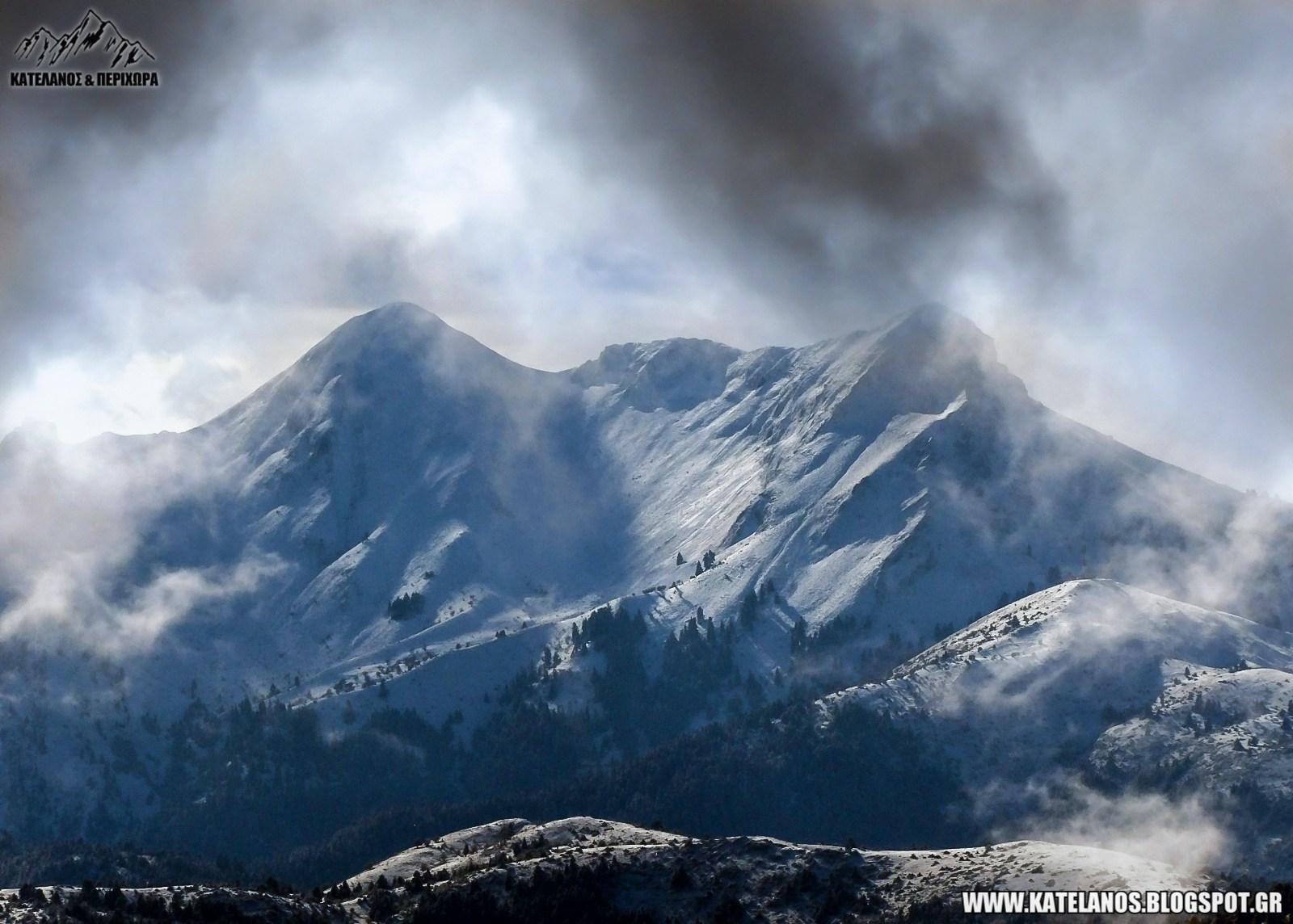 χελιδονα ευρυτανιας βουνο χιονια βορεια πλευρα