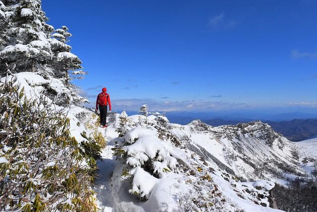 浅間山 雪の外輪稜線