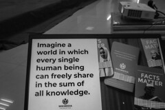 Imagine a world in which every single human being can freely share in the sum of all knowledge.