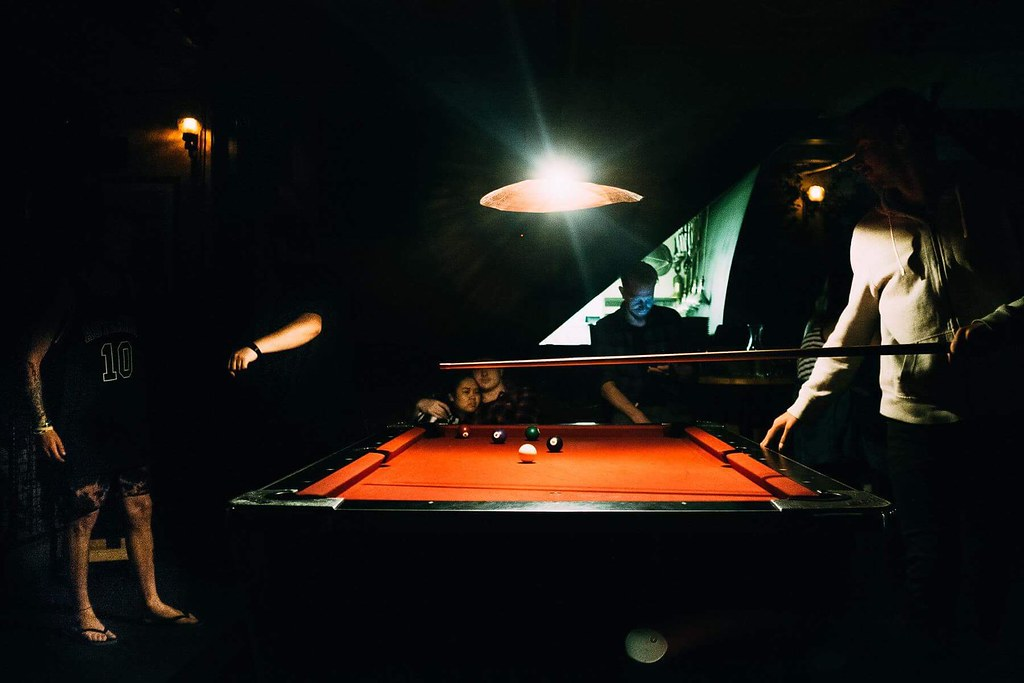 Guys Around A Pool Table In Queenstown Giacomo Vesprini Flickr - Pool table guys