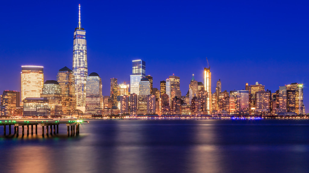happy new year downtown nyc skyline by hameed s