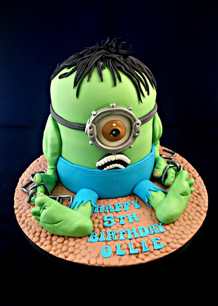 Minion Hulk Birthday Cake Geraldine Horton Flickr
