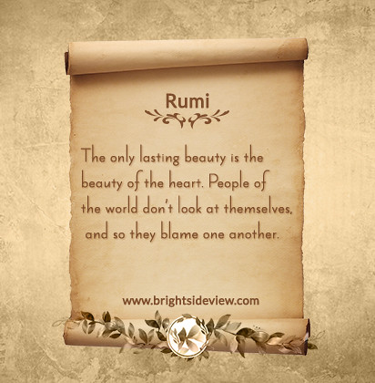 rumi short quotes about happiness by bright side view