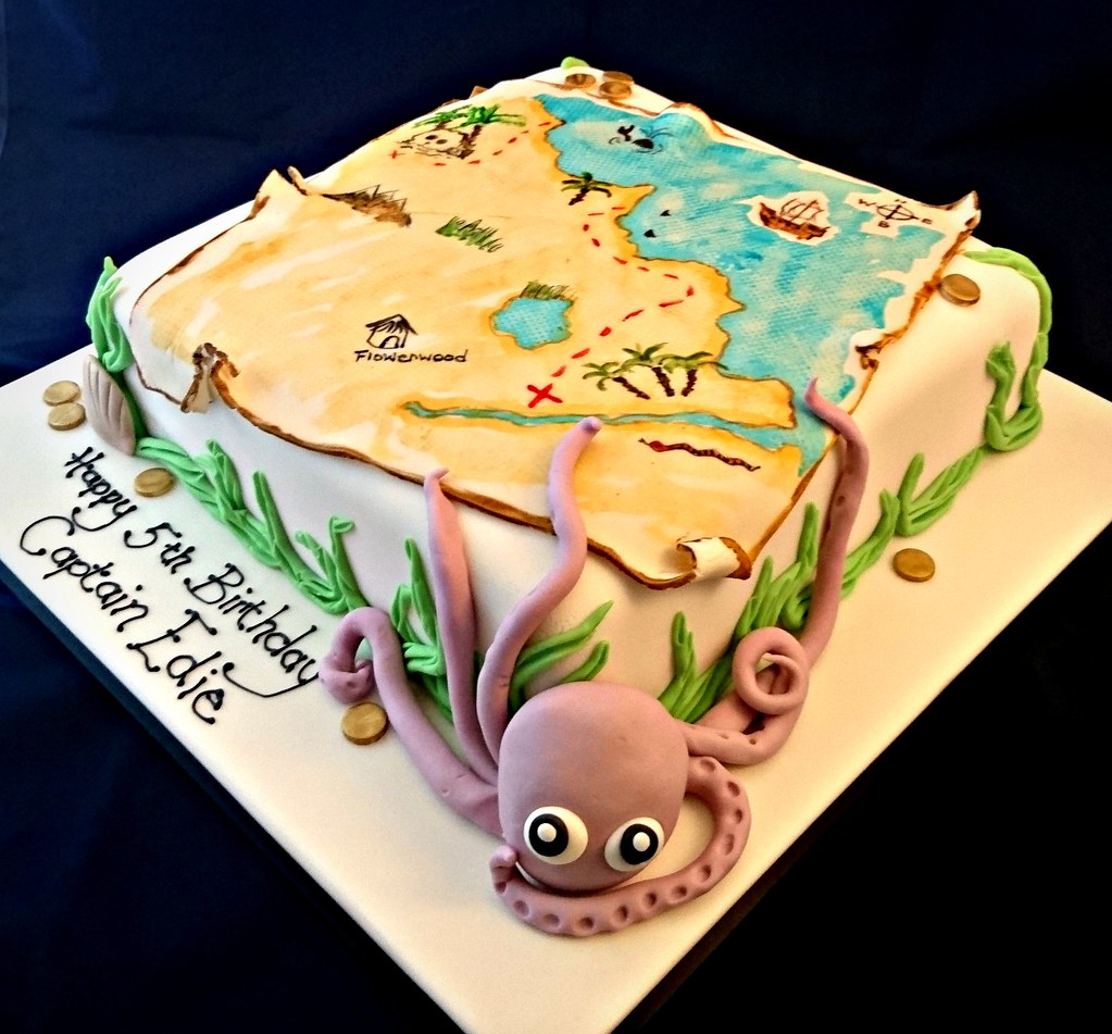 Treasure Map Birthday Cake Geraldine Horton Flickr