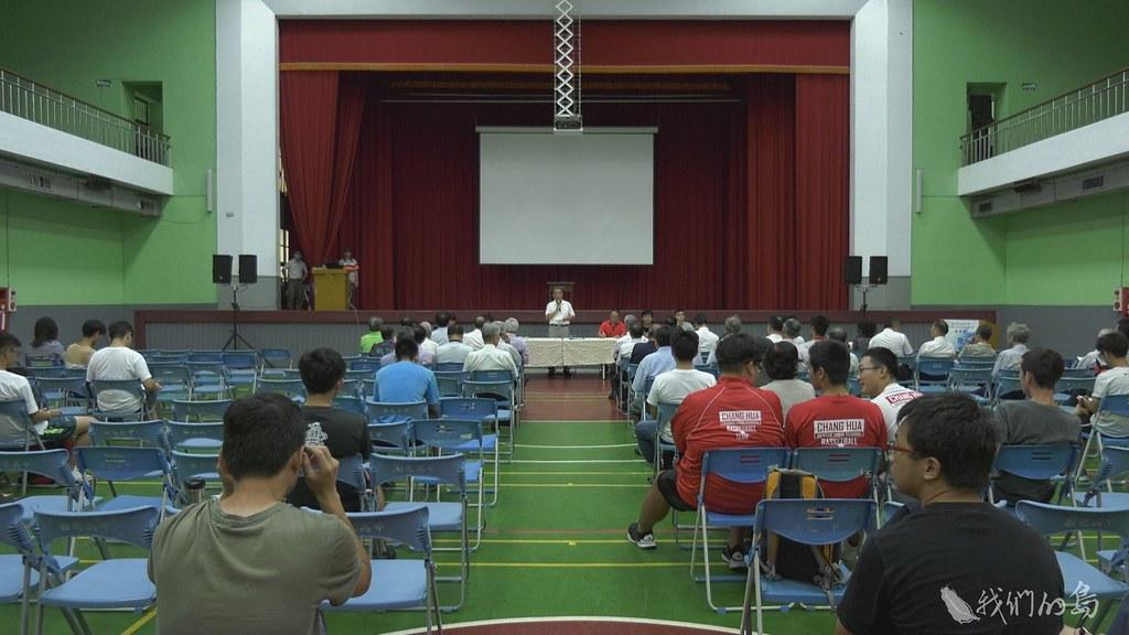 935-3-11校方為推動興建體育館,邀請畢業校友,舉辦校內說明會。