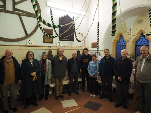 Group photo of visitors to St Jamers for branch meeting