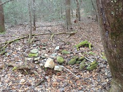 Organized Rocks Near East Jones Creek