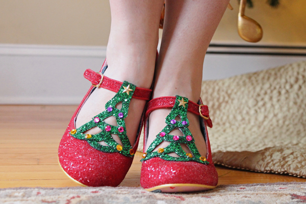 irregular choice nicely festive christmas heels