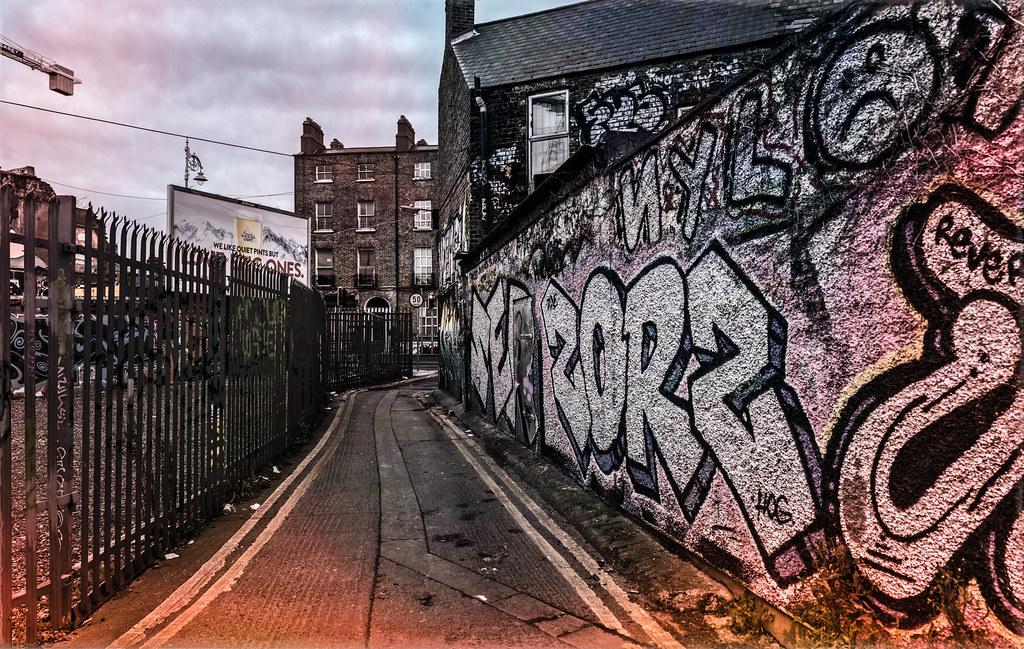 STREET ART AT SOUTH RICHMOND STREET IN DUBLIN 002
