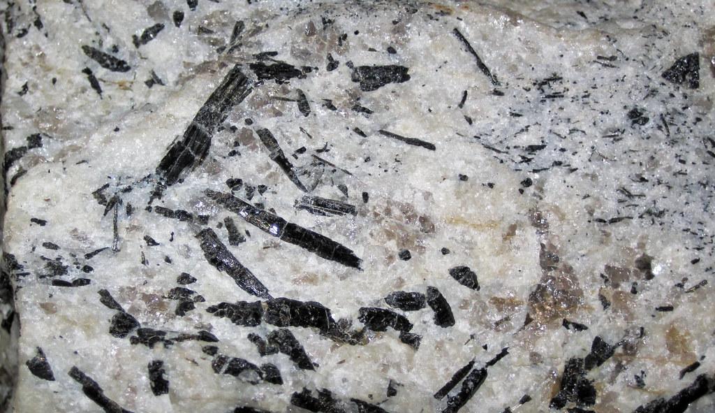 Tourmaline In Pegmatitic Granite Crabtree Pegmatite Devo
